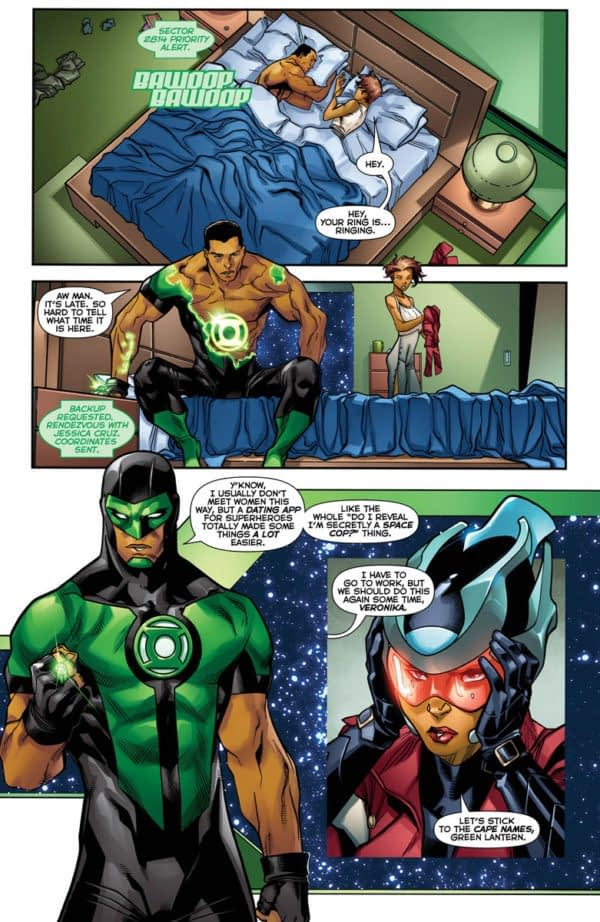 Green Lanterns #35 art by Carlo Barberi, Matt Santorelli, and Ulises Arreola