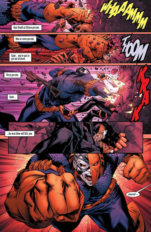 Deathstroke #26 art by Diogenes Neves, Jason Paz, and Jeromy Cox