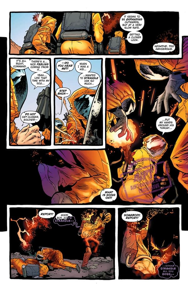 The Demon: Hell is Earth #2 art by Brad Walker, Andrew Hennessy, and Chris Sotomayor