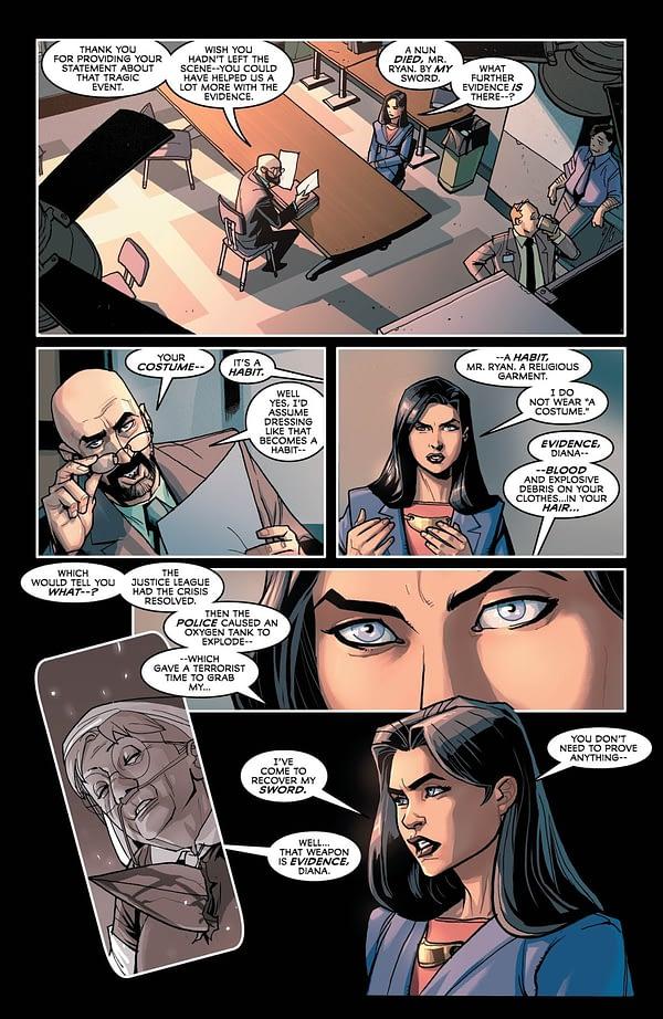 Justice League #35 art by Pete Woods
