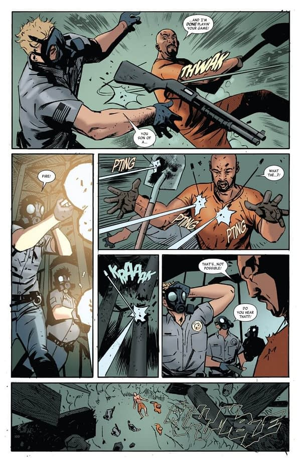 Luke Cage #168 art by Guillermo Sanna and Miroslav Mrva