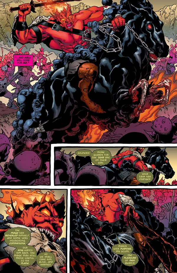 The Demon: Hell is Earth #3 art by Brad Walker, Andrew Hennessy, and Chris Sotomayor