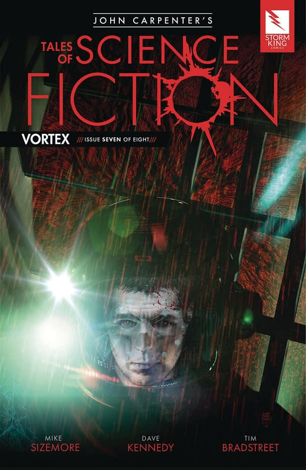 John Carpenter's Tales of Science Fiction: Vortex #7 cover by Tim Bradstreet