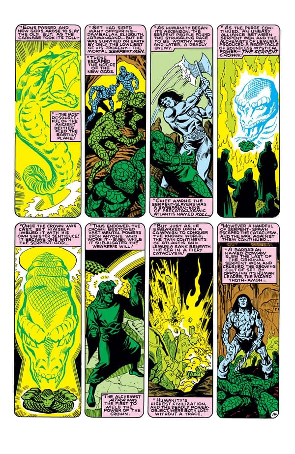 The history of the Serpent Crown from Marvel Team-Up Annual #5