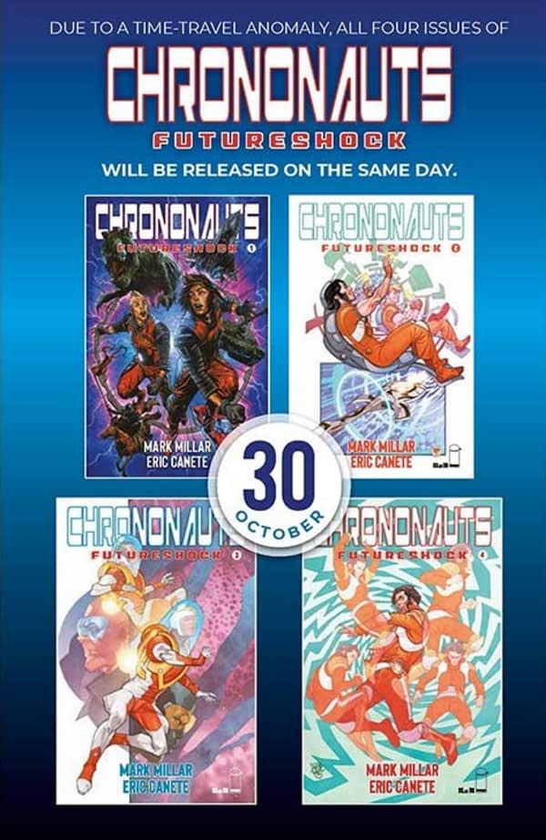 Image to Publish All 4 Issues of Chrononauts: Futureshock by Mark Millar and Eric Canete On Same Day, 3 Years Late