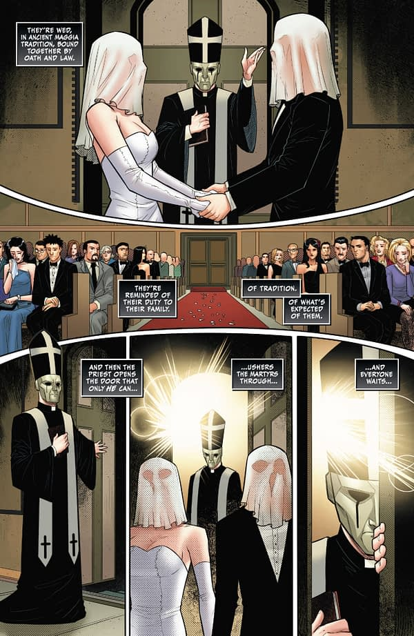 So How On Earth Did the Black Cat Hide That Costume Under Her Wedding Dress (Annual Spoilers)