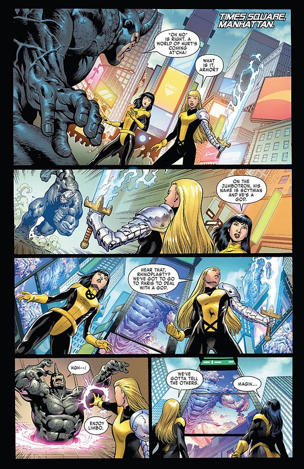 X-Men: Gold #25 art by Paulo Siqueira, Jose Luis, Cam Smith, Victor Olazaba, Arif Prianto, Java Tartaglia, and Juan Fernandez