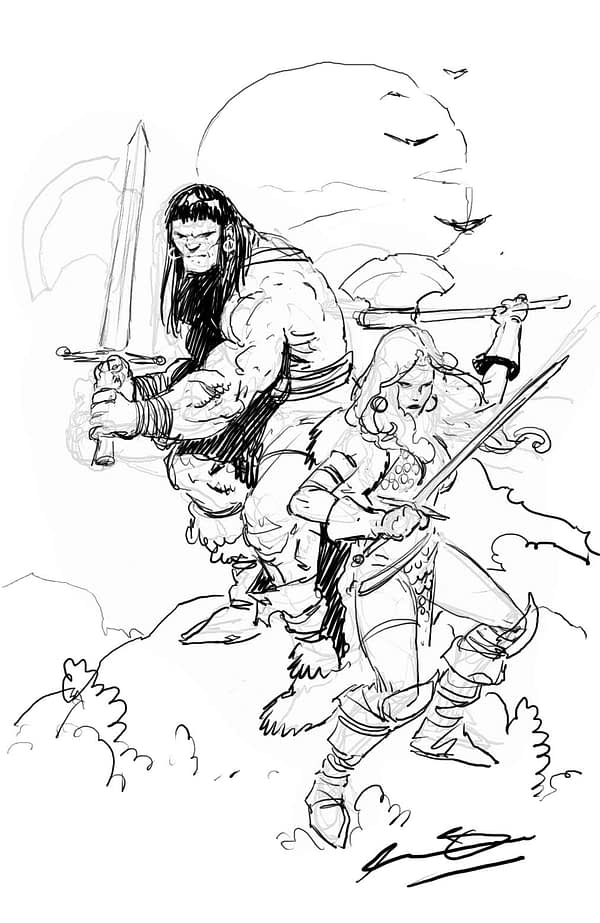 Conan Red cover sketch