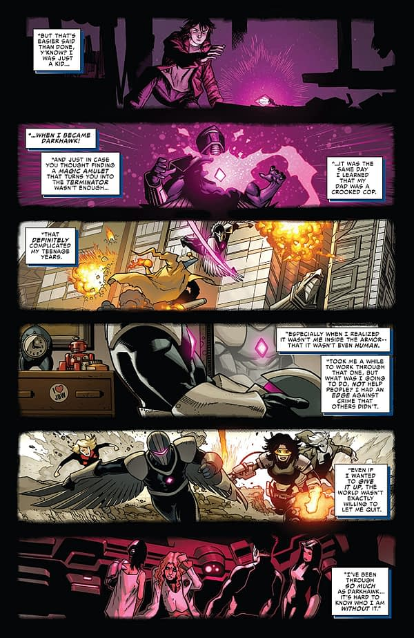 Darkhawk #51 art by Kev Walker and Java Tartaglia