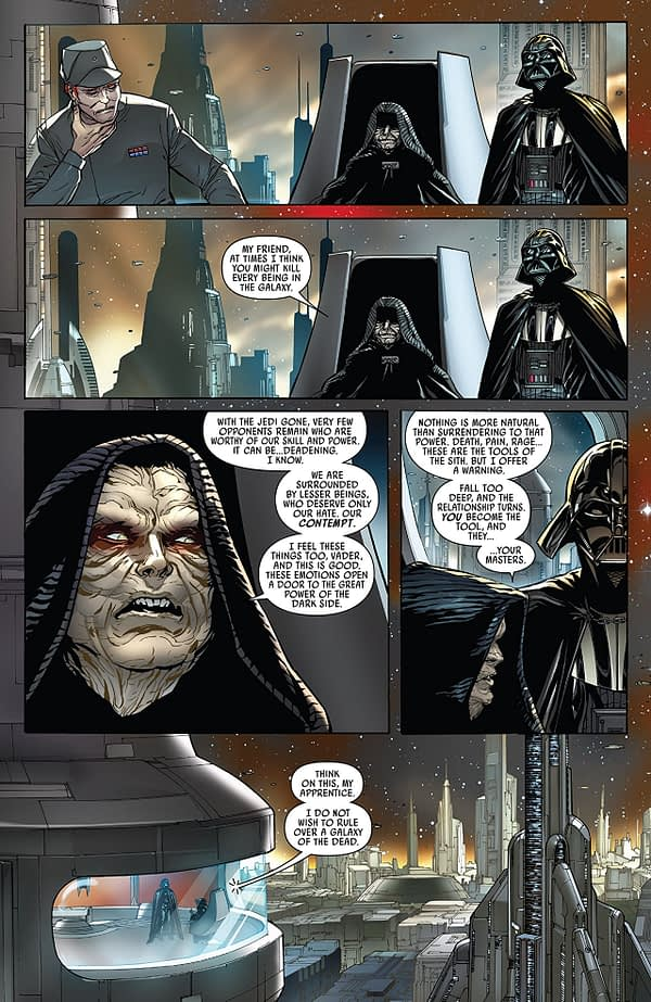 Darth Vader #8 art by Giuseppe Camuncoli, Daniele Orlandini, and David Curiel