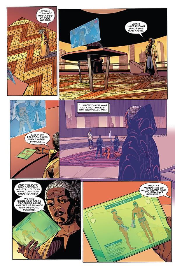 Black Panther #168 art by Chris Sprouse, Karl Story, Walden Wong, Matt Milla, and Chris Sotomayor