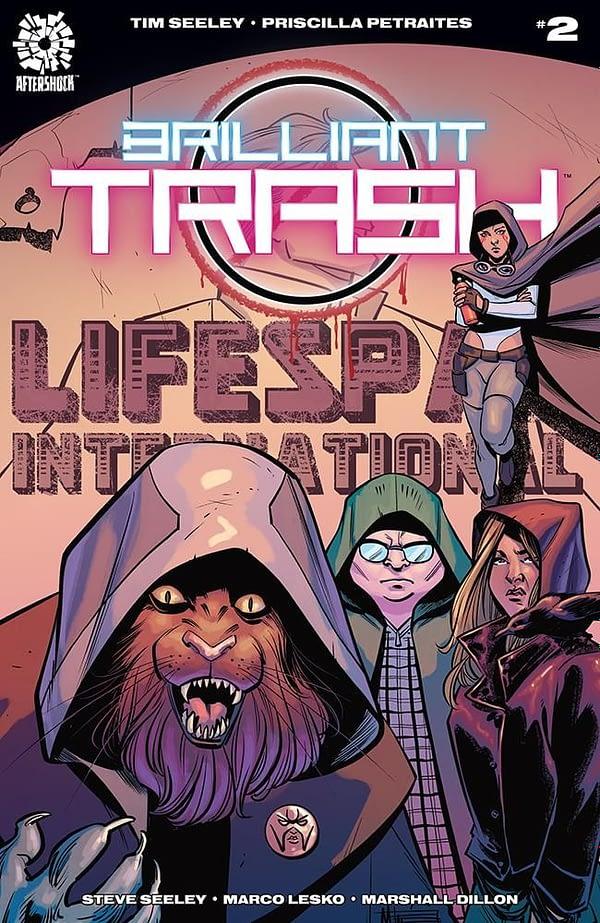 Brilliant Trash #2 cover by Mike Norton