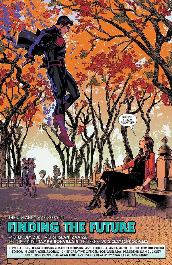 Uncanny Avengers #30 art by Sean Izaakse and Tamra Bonvillain