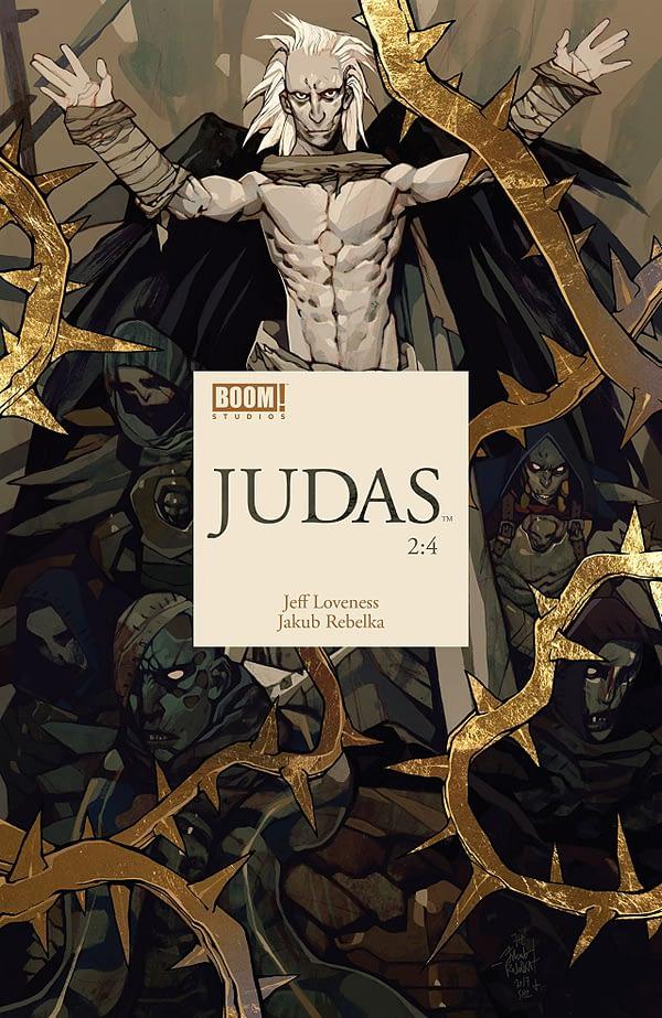 Judas #2 cover by Jakub Rebelka