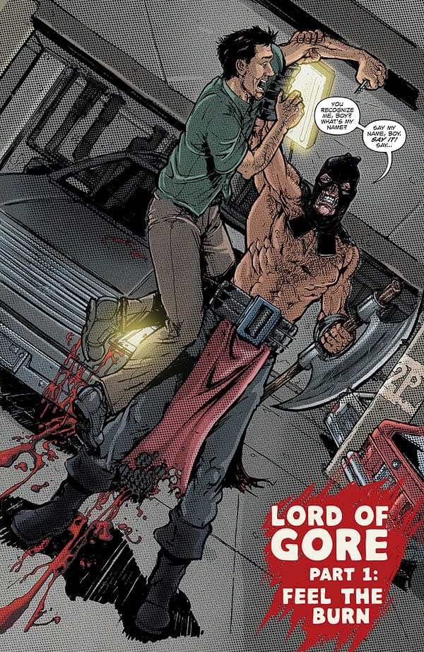 Lord of Gore #1 art by Daniel Leister and Sean Forney