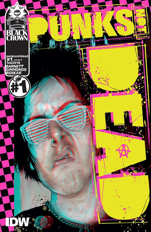 Punk's Not Dead #1 cover by Bill Sienkiewicz