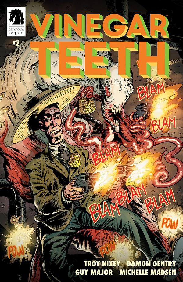 Vinegar Teeth #2 cover by Troy Nixey