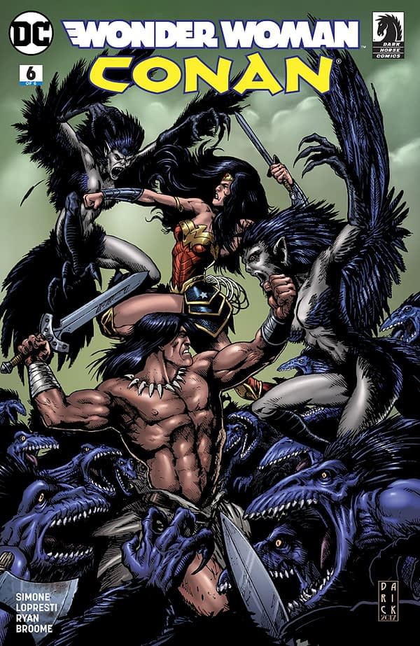 Wonder Woman/Conan #6 cover by Darrick Robertson and Tony Avina