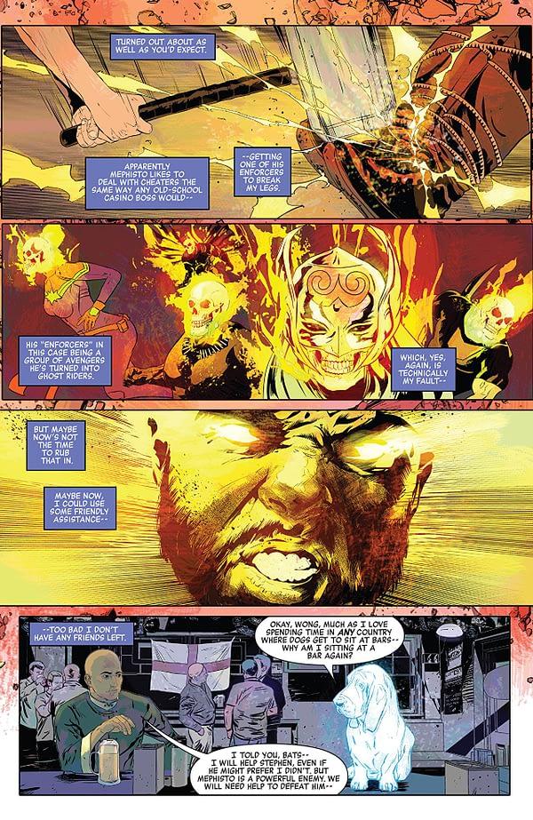 Doctor Strange: Damnation #2 art by Szymon Kudranski and Dan Brown