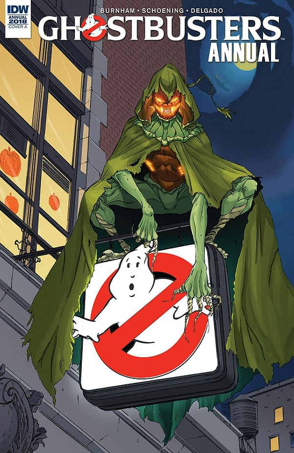 Ghostbusters Annual 2018 cover by Tim Lattie and Luis Antonio Delgado