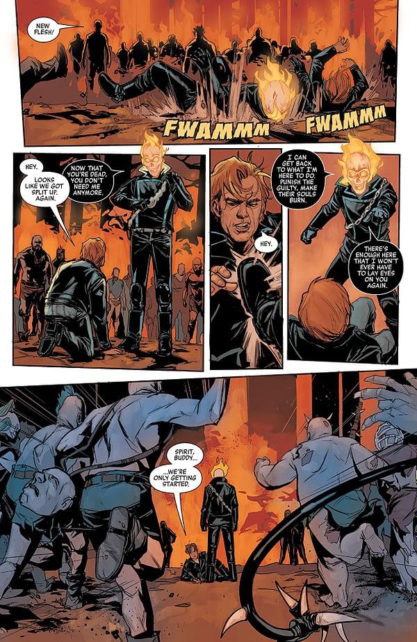 Johnny Blaze: Ghost Rider #1 art by Phil Noto