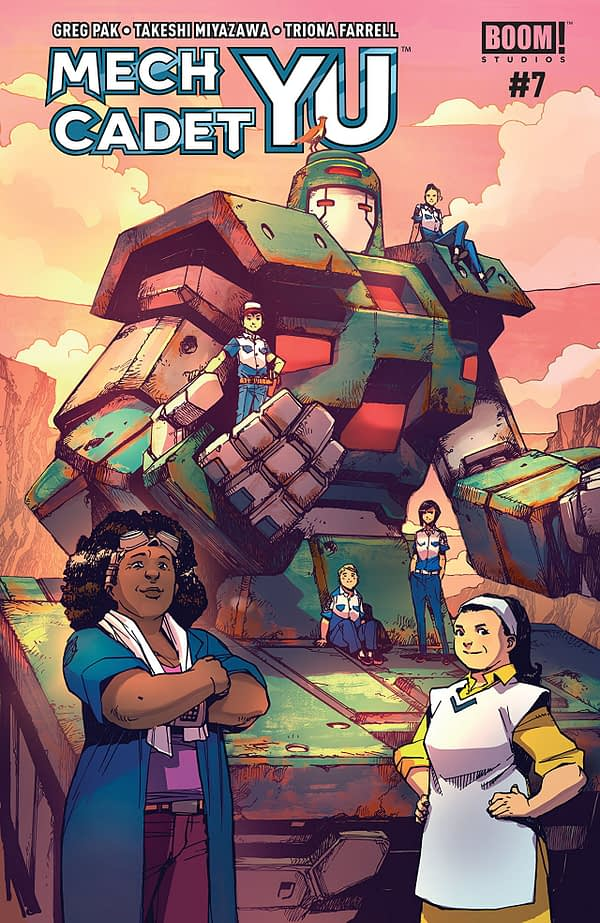 Mech Cadet Yu #7 cover by Takeshi Miyazawa and Raul Angulo