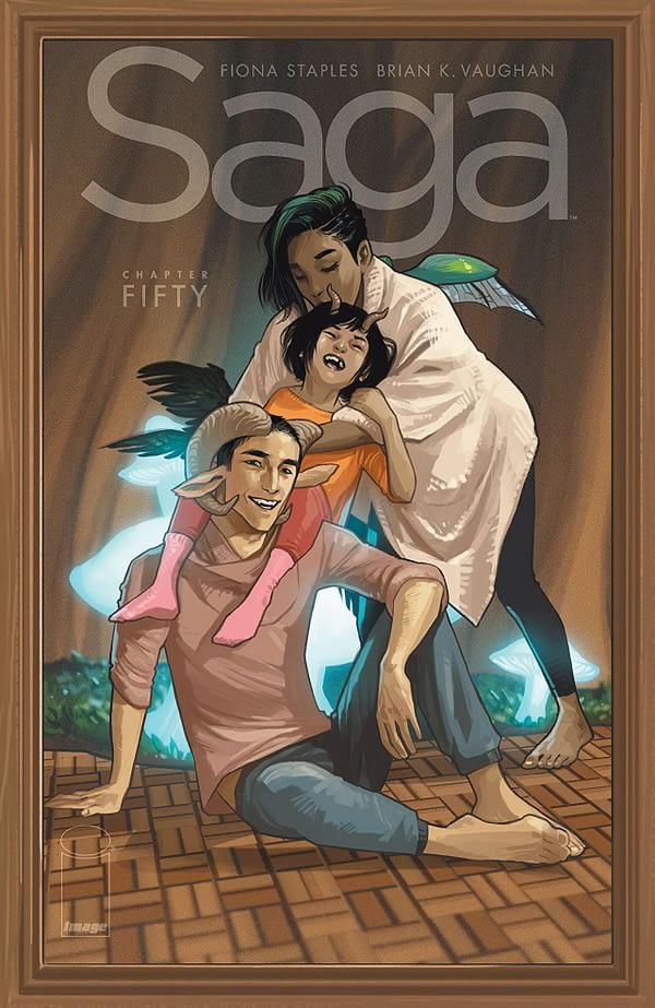 Saga #50 cover by Fiona Staples