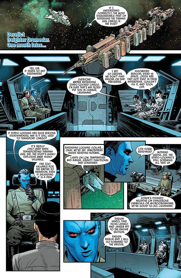 Star Wars: Thrawn #2 art by Luke Ross and Nolan Woodard