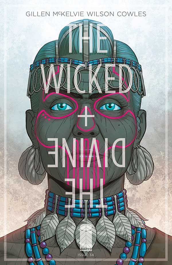Wicked + Divine #34 cover by Jamie McKelvie and Matt Wilson