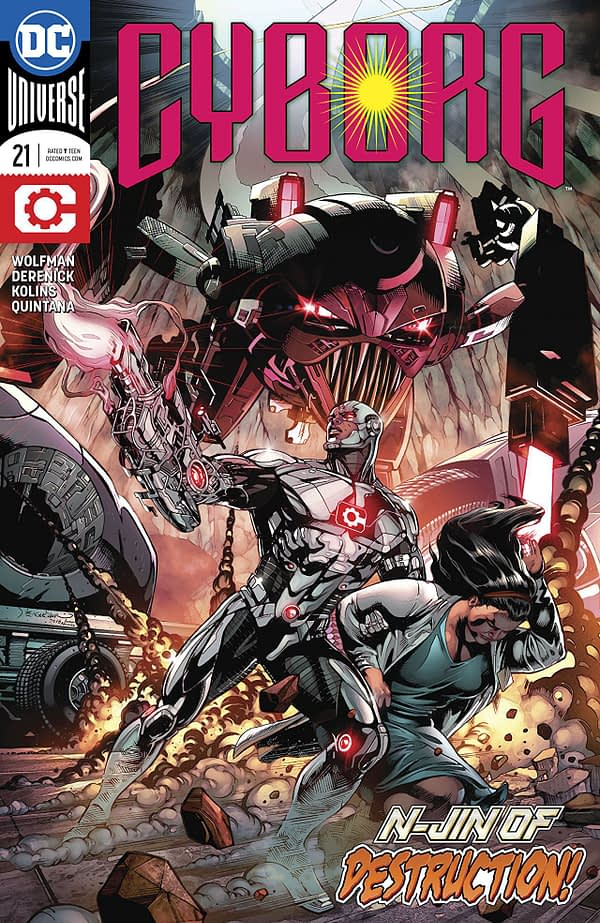 Cyborg #21 cover by Will Conrad and Ivan Nunes