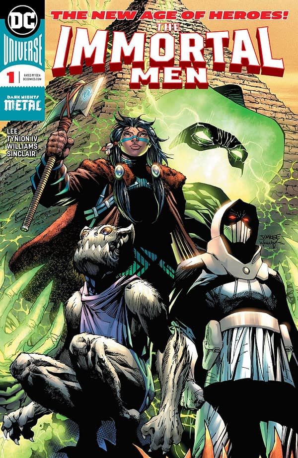 Immortal Men #1 cover by Jim Lee, Scott Williams, and Alex Sinclair