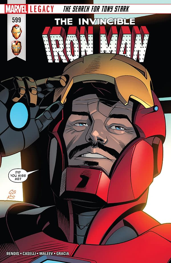 The Invincible Iron Man #599 cover by Chris Sprouse, Karl Story, and Marte Gracia