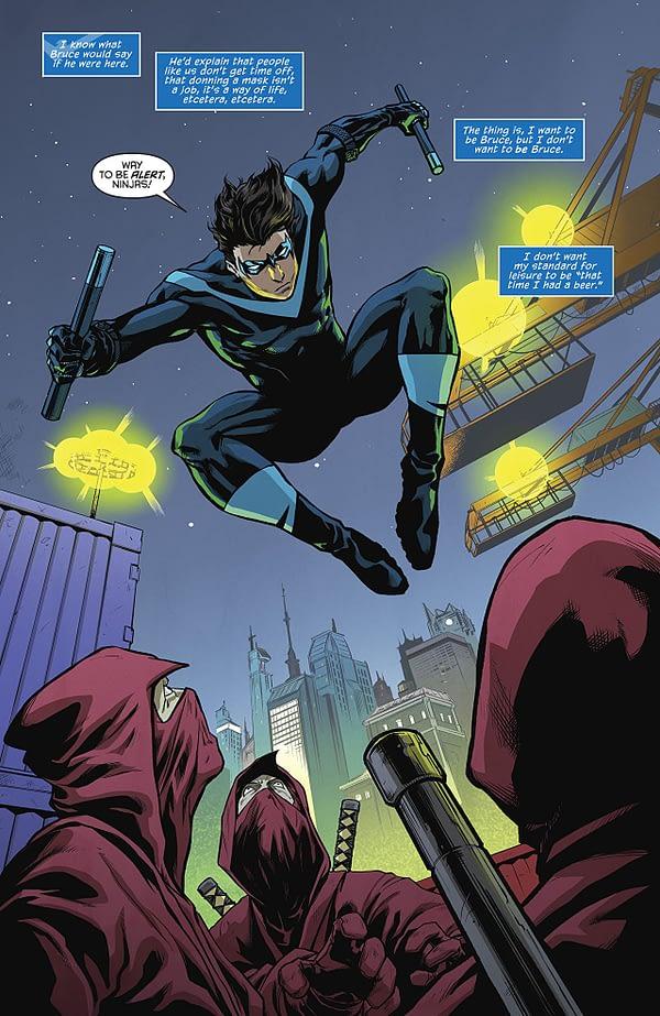 Nightwing #43 art by Minkyu Jung and Felipe Sobreiro