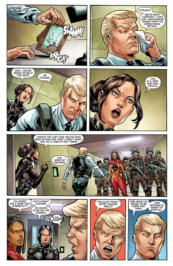 Ninjak vs the Valiant Universe #4 art by Joe Bennett, Belardino Brabo, and Ulises Arreola