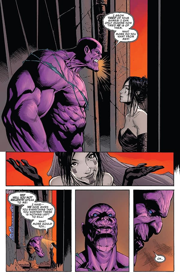 Thanos #18 art by Geoff Shaw and Antonio Fabela