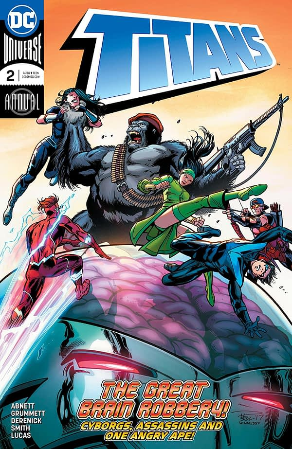 Titans Annual #2 cover by Paul Pelletier, Andrew Hennessy, and Adriano Lucas