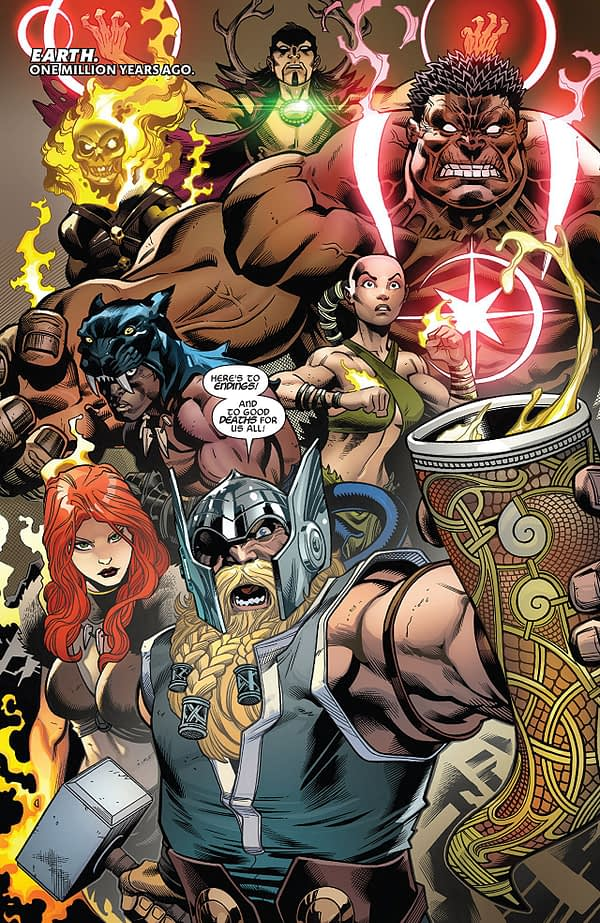 Avengers #1 art by Ed McGuinness, Mark Morales, and David Curiel