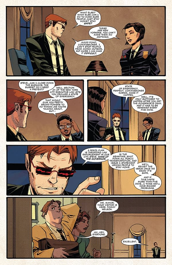 Daredevil #602 art by Mike Henderson and Matt Milla