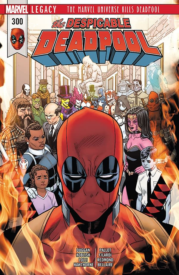 The Despicable Deadpool #300 cover by Mike Hawthorne and Nathan Fairbairn