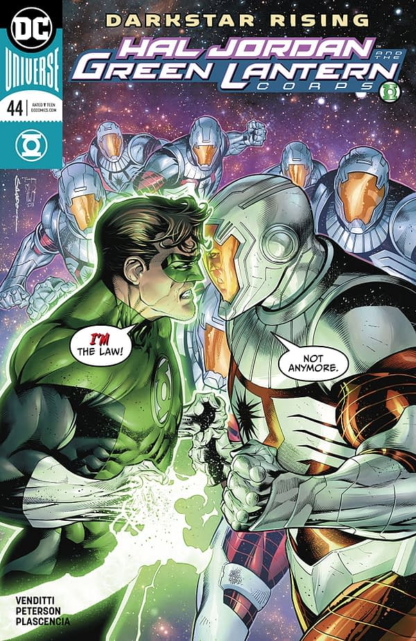 Hal Jordan and the Green Lantern Corps #44 cover by Rafa Sandoval, Jordi Tarragona, and Tomeu Morey
