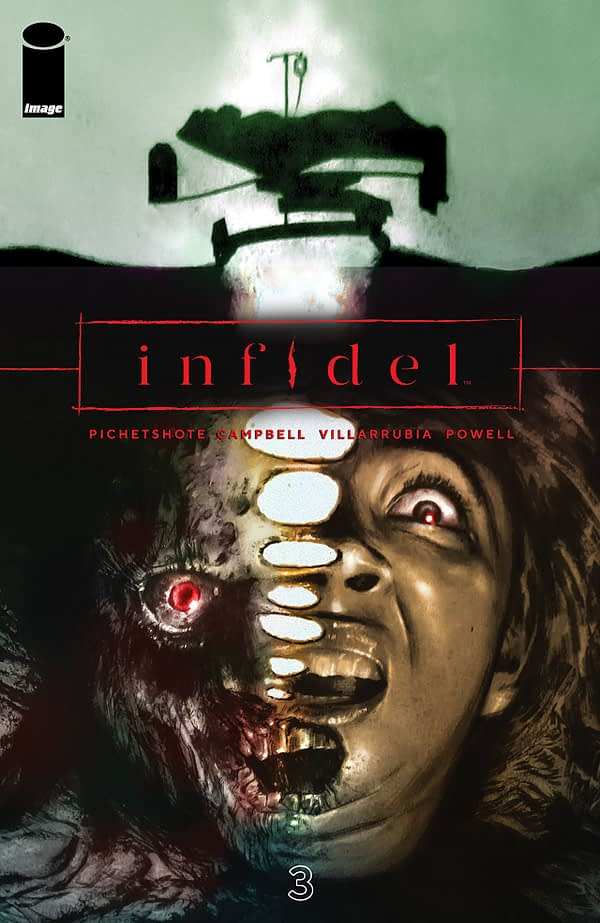 Infidel #3 cover by Aaron Campbell, Alina Urosov, and Jose Villarrubia