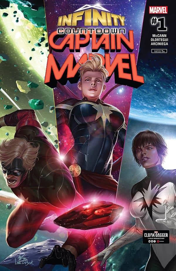 Infinity Countdown: Captain Marvel #1 cover by Inhyuk Lee