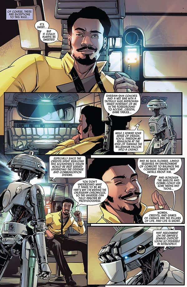 Lando: Double or Nothing #1 art by Paolo Villanelli and Andres Mossa