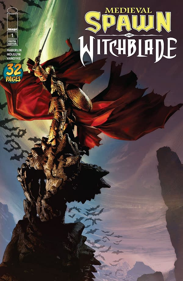 Medieval Spawn and Witchblade #1 cover by Brian Haberlin