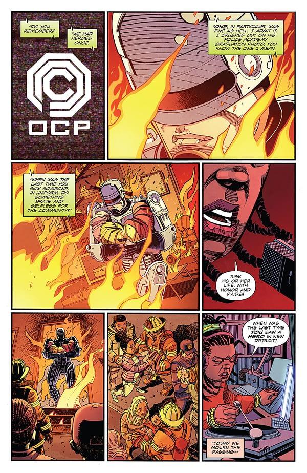 Robocop's Citizen's Arrest #2 art by Jorge Coelho and Dough Garbark