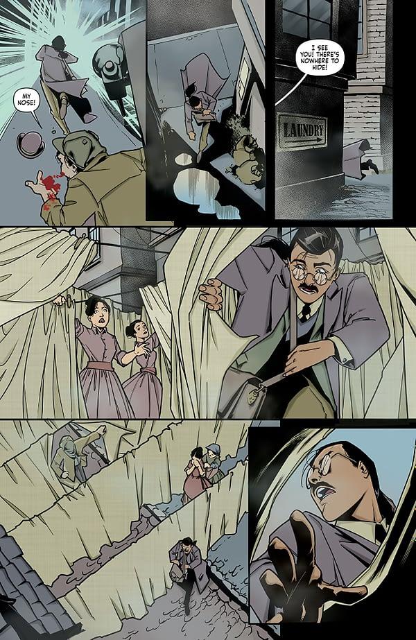Sherlock Holmes: The Vanishing Man #1 art by Julius Ohta and Ellie Wright