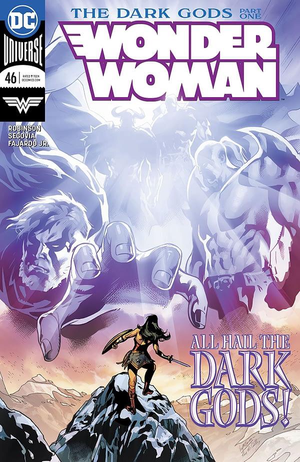 Wonder Woman #46 cover by Emanuela Lupacchino and Romulo Fajardo Jr.