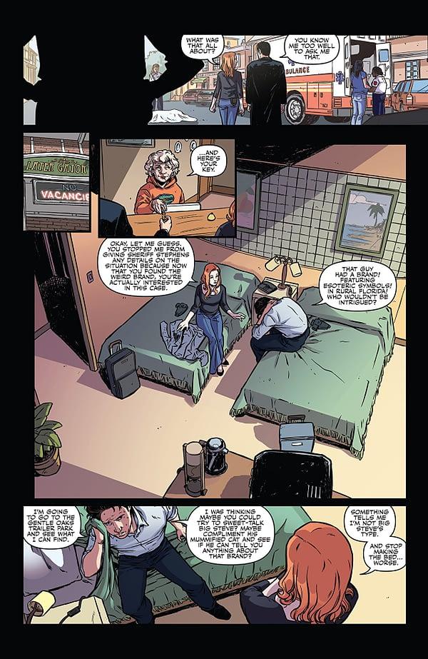 X-Files Case Files: Florida Man #2 art by Elena Casagrande, Silvia Califano, and Arianna Florean