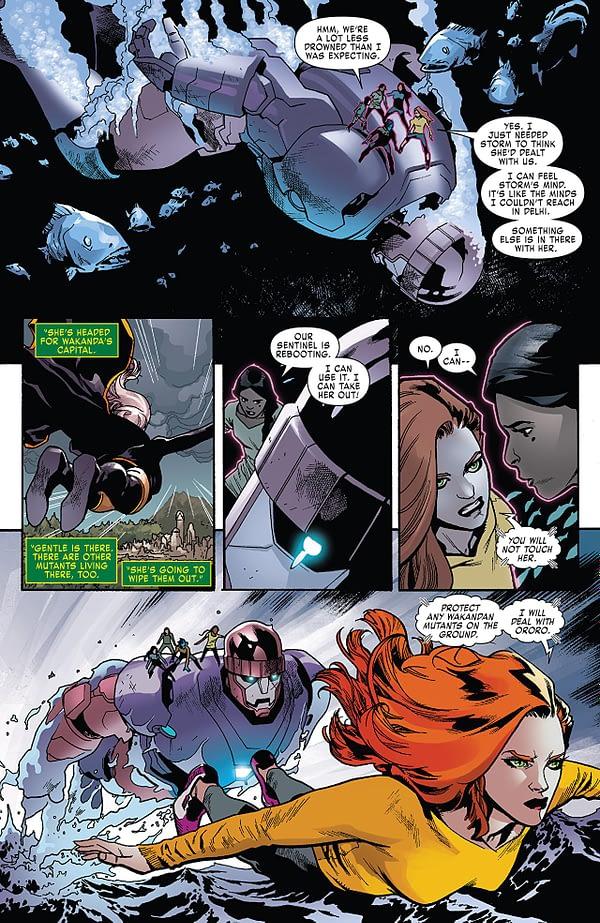 X-Men: Red #4 art by Mahmud Asrar and Rain Beredo