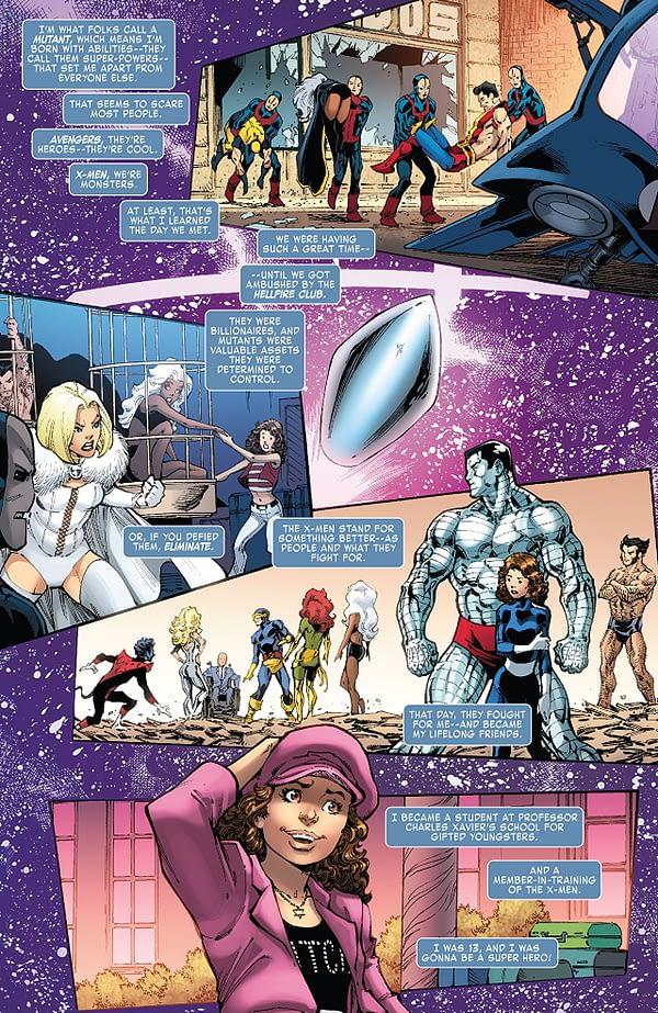 X-Men Wedding Special #1 art by Todd Nauck and Rachelle Rosenberg
